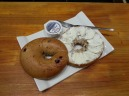 BAGEL WITH CREAM CHEESE FOUND NEAR BLACK HOLE