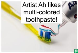 ARTIST AH MULTI-COLORED TOOTHPASTE
