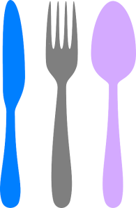 LIONEL LOOKEEHERE'S PURPLE SPOON AND BLUE KNIFE COLLECTION