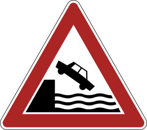 CAR FALLING INTO WATER