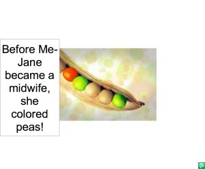 ME-JANE'S COLORED PEAS