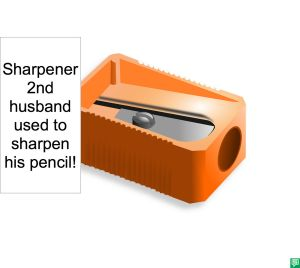 SHARPENER 2ND HUSBAND USED TO SHARPEN PENCIL