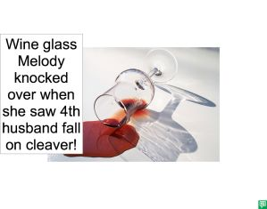 WINE GLASS MELODY KNOCKED OVER