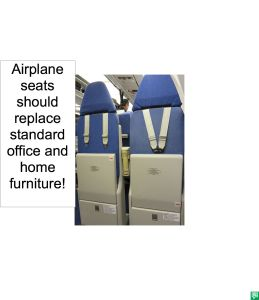 AIRPLANE SEATS COMFORTABLE AND SECURE