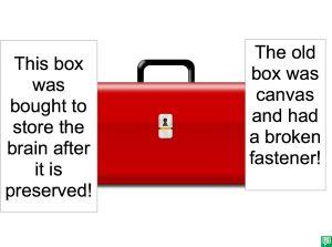 BOX TO STORE IMA ATHOL'S BRAIN