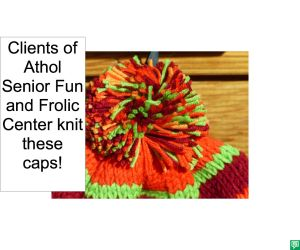 CAPS KNIT BY SENIOR FUN AND FROLIC CENTER