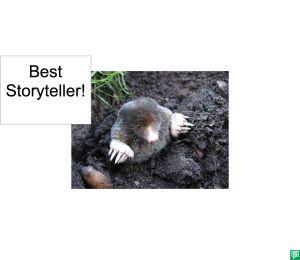 MANFRED MOLE BEST STORYTELLER