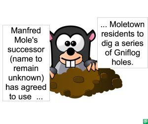 MANFRED MOLE'S SUCCESSOR AGREES