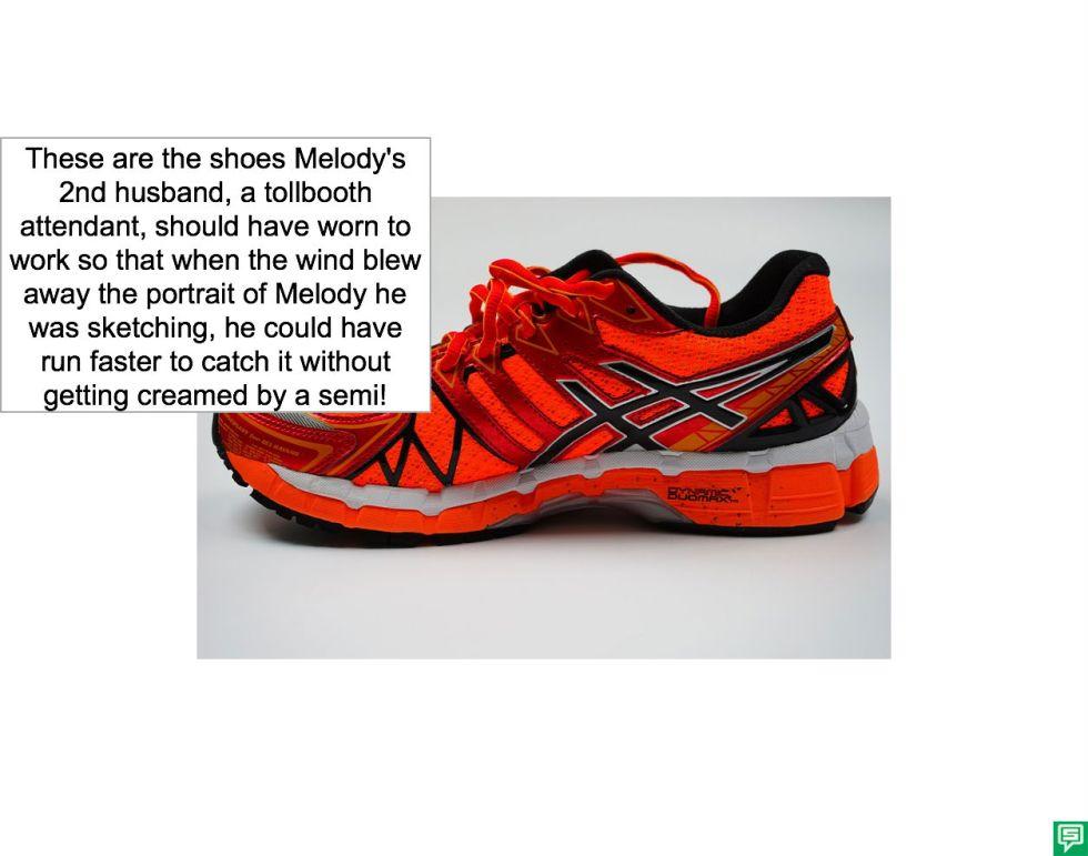 MELODY AGOGO'S 2ND HUSBAND'S RUNNING SHOES