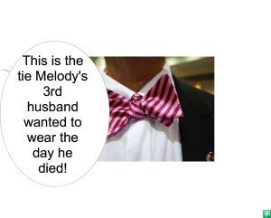 MELODY AGOGO'S 3RD HUSBAND'S BOWTIE