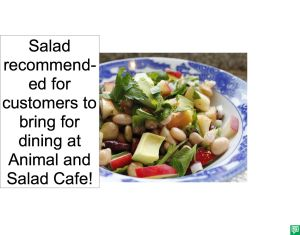 SALAD RECOMMENDED BY CAFE