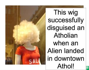 WIG SUCCESSFULLY DISGUISED ATHOLIAN