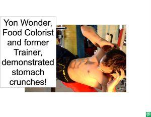YON WONDER DOING STOMACH CRUNCHES