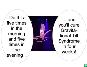 CURE FOR GRAVITATIONAL TILT SYNDROME