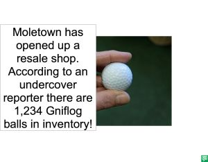 GOLF BALLS AT RESALE SHOP