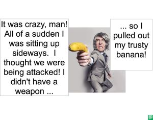 MALE TOURIST AND BANANA