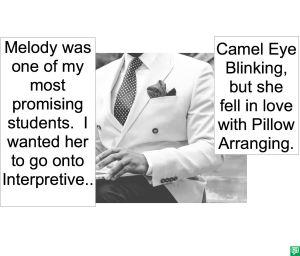 PROFESSOR CAMEL EYE BLINKING