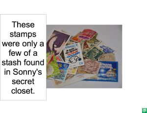 SONNY CECIL'S STASH OF STAMPS