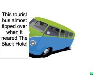 TOURIST BUS TIPPED OVER