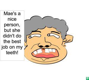 MAE'S EX BAD JOB