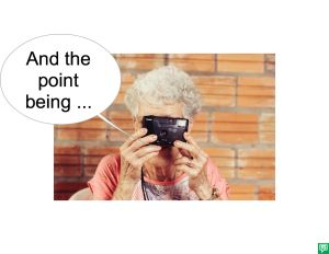 MRS. LONG AND THE POINT BEING
