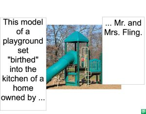 PLAYGROUND SET BIRTHED