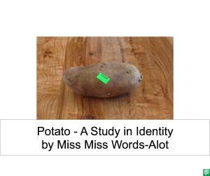 POTATO BY MISS MISS WORDS-ALOT