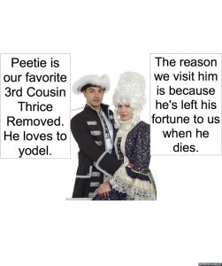PEETIE'S RELATIVES