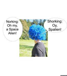 BLUE WIG SHORKING
