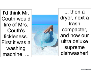 DISHWASHER MANUFACTURER MR. COUTH