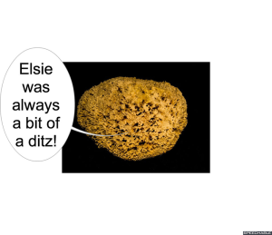 ELSIE WHAT-WHEN'S MOTHER ELSIE A DITZ