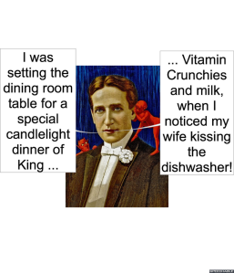 HUSBAND NOTICED WIFE KISSING DISHWASHER