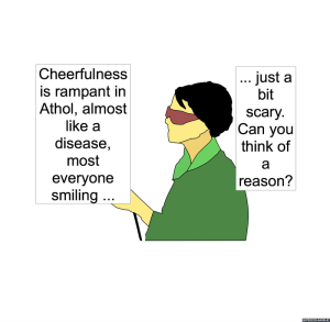 LEAD REPORTER CHEERFULNESS
