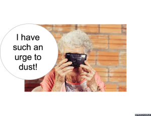 MRS. LONG URGE TO DUST