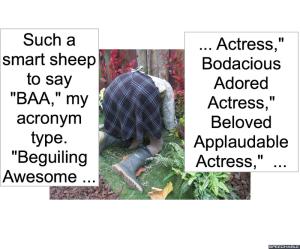 PASSION ATA SHEEP SAY BAA