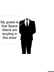 SPACE ALIEN RECYCLIST SPECIALIST CHEERFULNESS