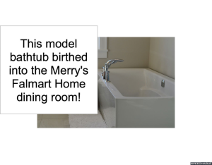 BATHTUB BIRTHED