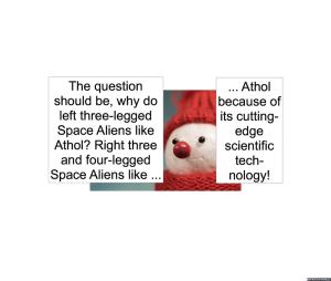 IMOGENE TOE THREE-LEGGED SPACE ALIENS