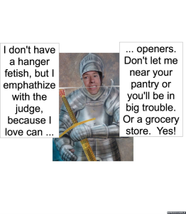 MAN IN ARMOR CAN OPENERS