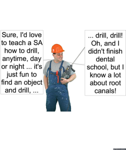 MAN WITH DRILL TEACH SP