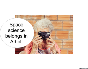 MRS. LONG SPACE SCIENCE BELONGS IN ATHOL