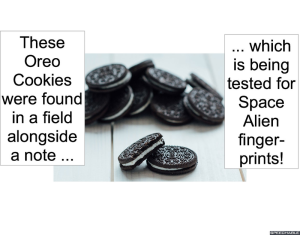 OREO COOKIES IN FIELD