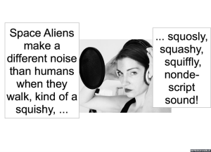 SPACE ALIEN ANIMAL AND HUMAN NOISE SPECIALIST HUMANS