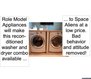 WASHER AND DRYER BAD BEHAVIOR