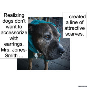 dog-with-scarf-earrings