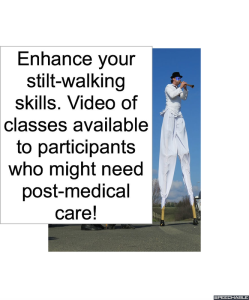 man-on-stilts-medical-care